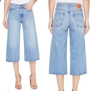 NWOT Levi's The Culotte High Waisted 100% Cotton